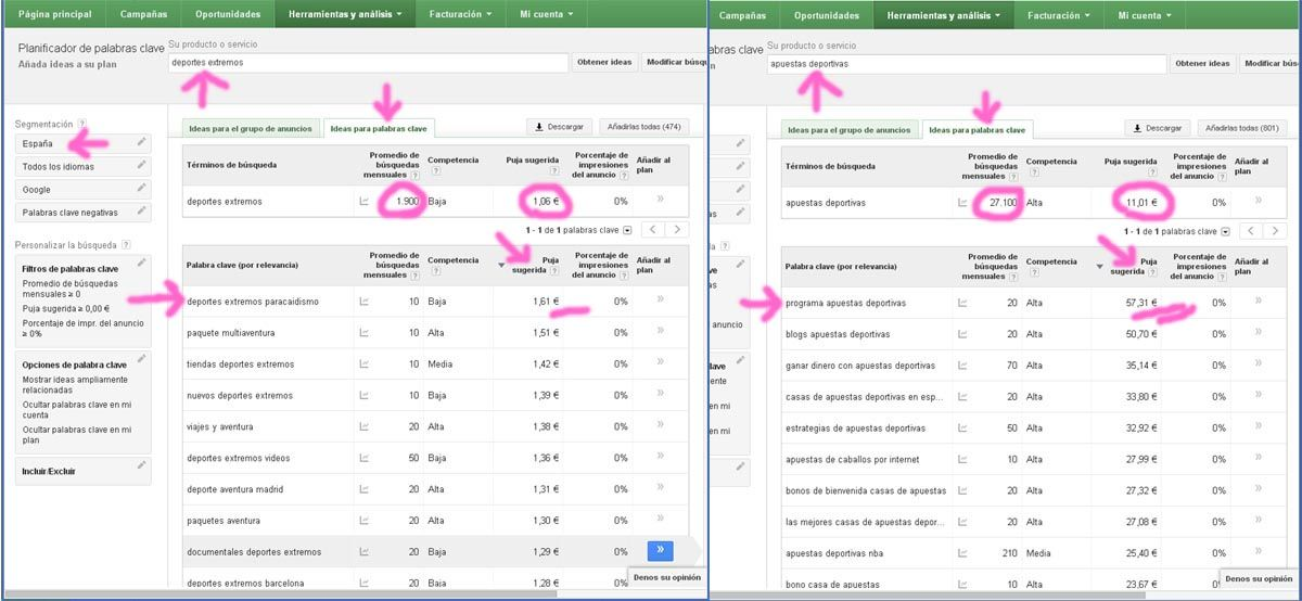 Google Adwords Nicho de mercado